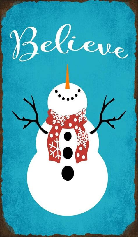 believe holiday decoration believe with snowman wood sign or canvas wall decor farmhouse