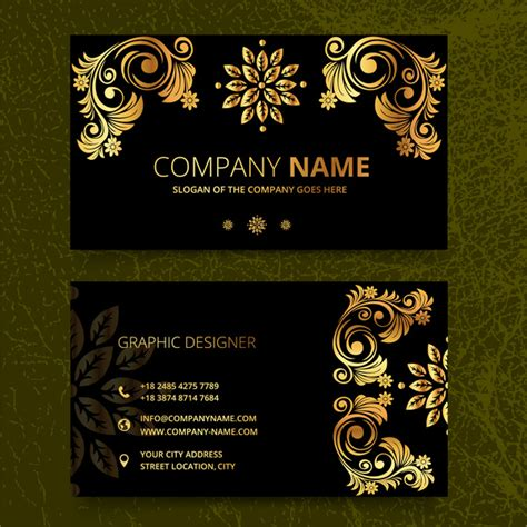 card template vintage elegence vintage business card templates free vector in
