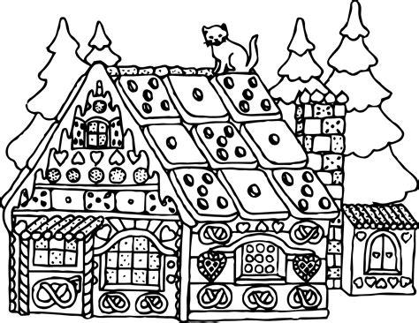 santa house christmas santa claus house coloring page wecoloringpage