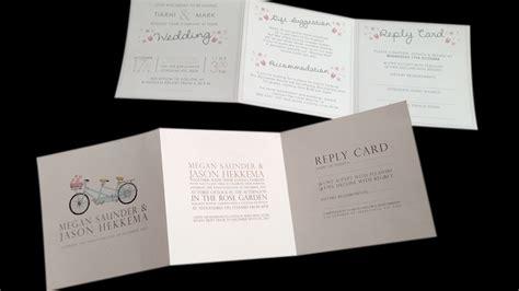 foliage tri fold wedding invitation by julia eastwood