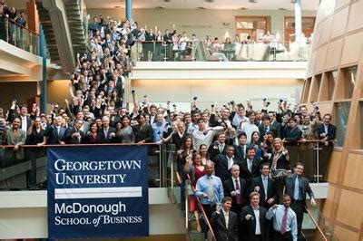 Georgetown Mba Average Starting Salary by Getting Into Business School Tips With Georgetown