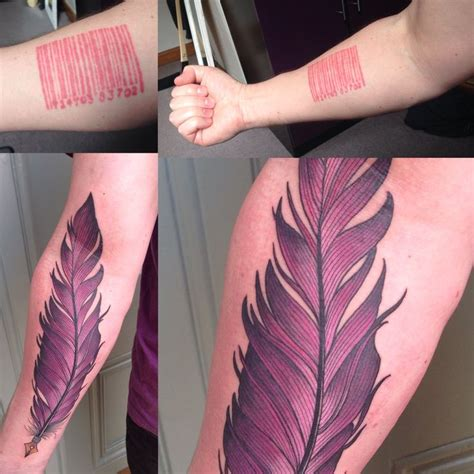lara barcode tattoo instagram 25 best ideas about quill tattoo on pinterest feather