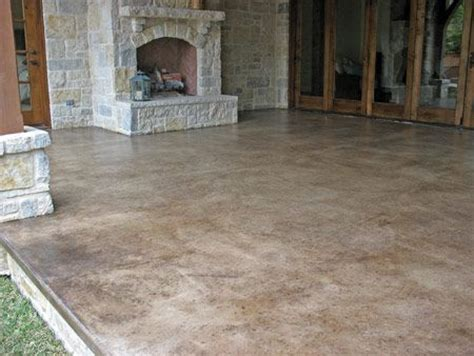 stained cement patio best 25 colored concrete patio ideas on