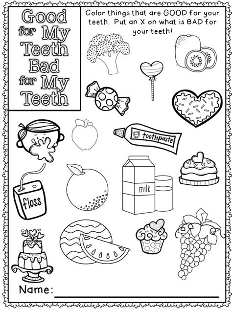 health coloring pages preschool dental health freebie mrs russell s room education