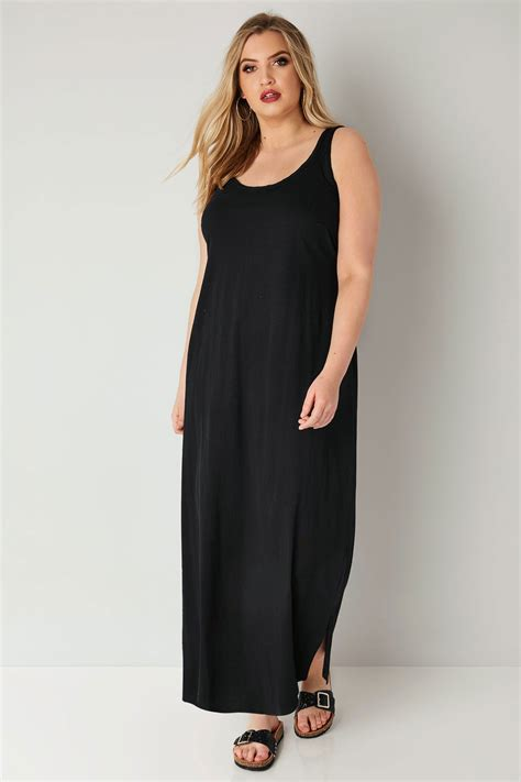And Color Icon Blush Chagne Blushon Blush On black sleeveless maxi dress with plait trim plus size 16