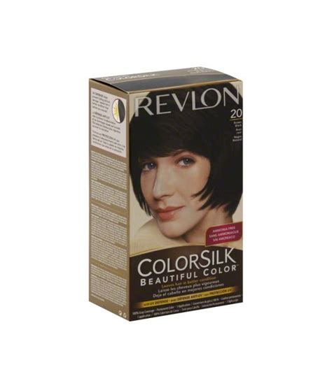 ammonia free hair color revlon colorsilk ammonia free hair color 20 brown black
