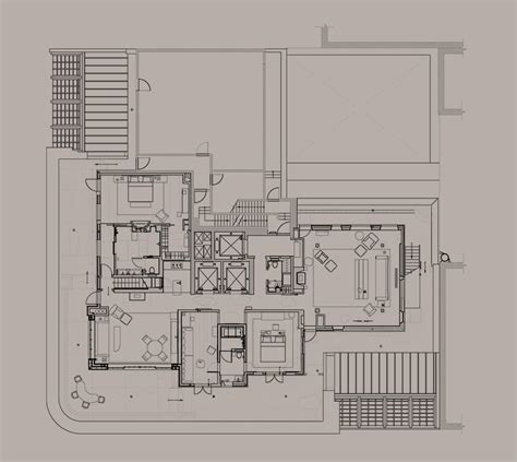Bowling Alley Floor Plan by The Tribeca Penthouse The Greenwich Hotel