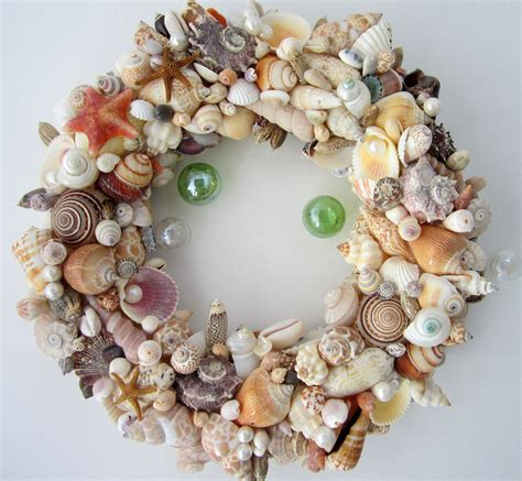 decor seashell wreath nautical decor shell wreath