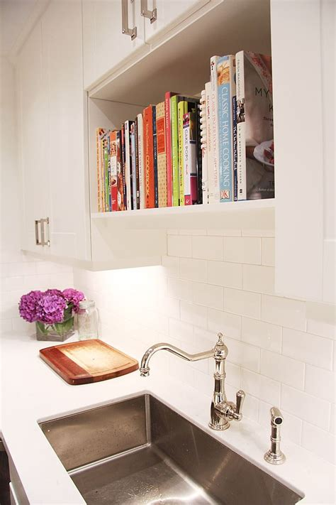 Sink Shelves Kitchen 15 Unique Kitchen Ideas For Storing Cookbooks