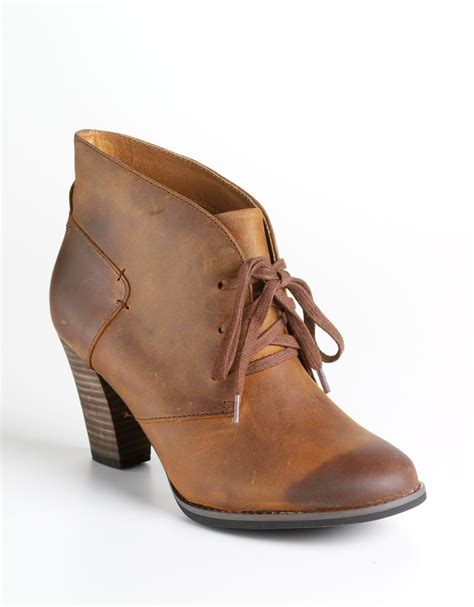 brown leather ankle boots clarks heath wren leather ankle boots in brown brown