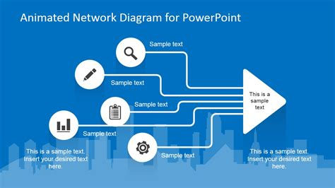 network templates for powerpoint free download animated network diagram powerpoint template slidemodel