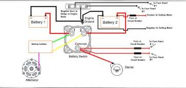 marine battery isolator wiring diagram for with switch marine wiring diagram