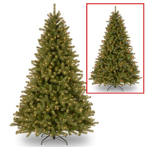 trimmery 3b 75 lakewood spruce national tree company 7 5 ft lakewood spruce tree with dual color led lights pelw8 307d 75