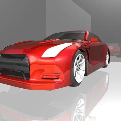 nissan sports car models 3d nissan sports car model