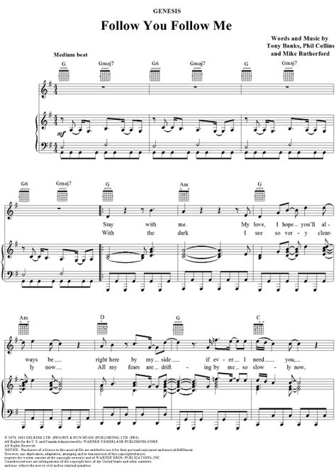 genesis stay with me follow you follow me sheet for piano and