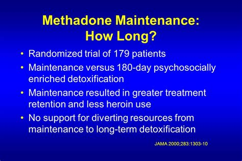 30 Day Methadone Detox In Southern Md by Pharmacologic Treatment Of Addiction Ppt