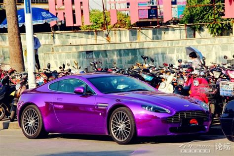 purple aston martin aston martin v8 vantage is shiny purple in china