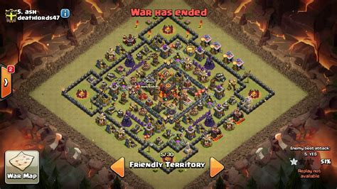 th10 layout post update top th 10 warbase layout 2016 anti golem anti air coc