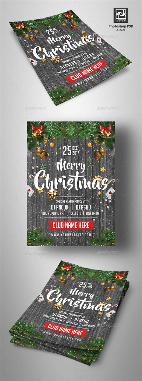 dafont beyond the mountains christmas flyer by loone graphicriver