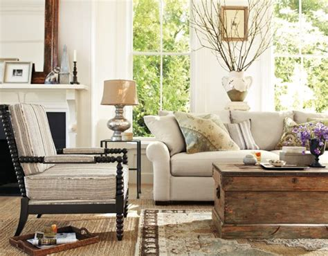 pottery barn livingroom rustic at pottery barn