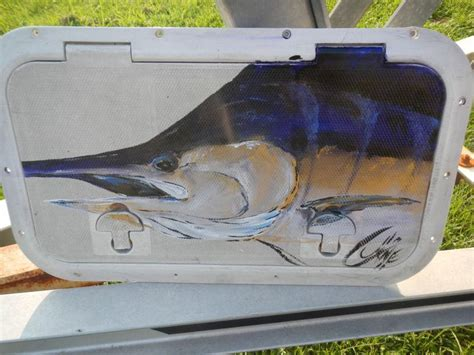 used boat parts pensacola buy marine boat hatch with marlin painting by pensacola