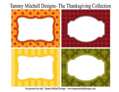 printable labels for your fall food gifts by lia griffith 6 best images of fall food labels printable thanksgiving