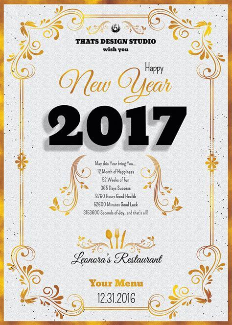 new years menu template new year menu template psd templates store