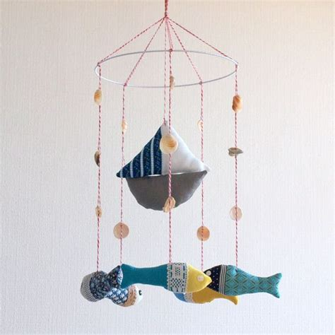 Fish Mobile For Crib by Boat And Fish Baby Crib Mobile Nursery Mobile Baby