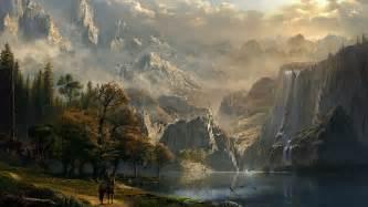 fantasy mountain castles