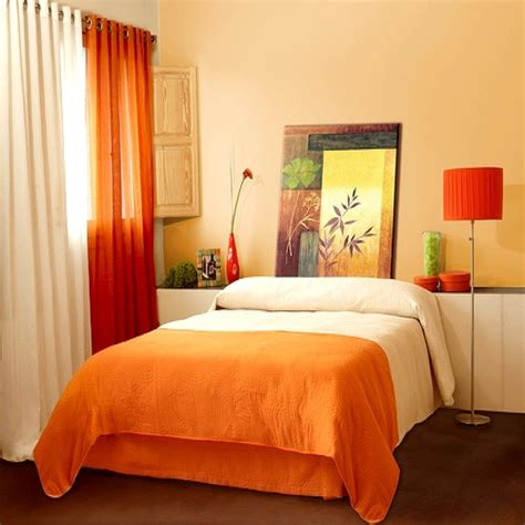 bedroom orange colour bedroom schemes combination for
