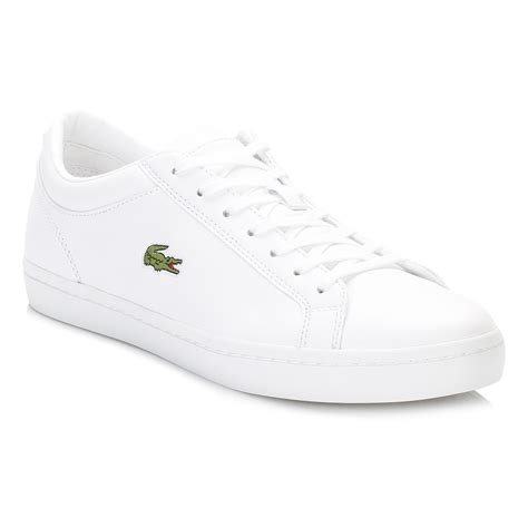 womens lacoste sneakers lacoste womens white trainers straightset bl1 spw lace