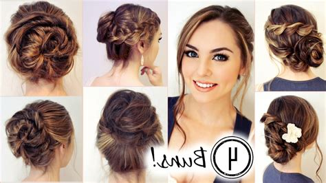 youtube hairstyles messy buns messy updo hairstyles no heat hairstyles 4 unique messy