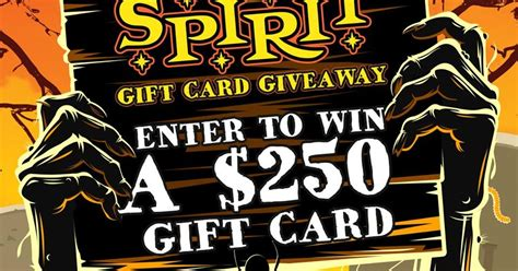 Spirit Halloween Gift Card - coupons and freebies spirit halloween 100 gift card giveaway 22 winners grand