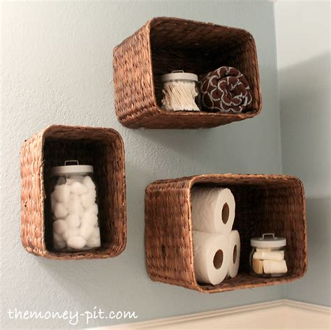 wall shelves with baskets turning baskets into shelves the six fix
