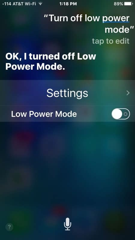 quickly turn iphone battery saving  power mode