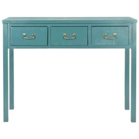 teal sofa table safavieh american home collection teal console table