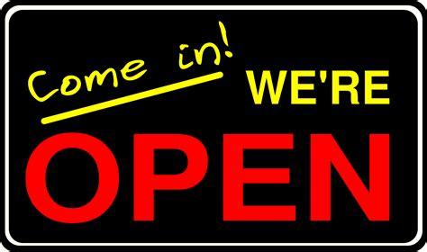 Open Sign Signage Pintu Kaca clipart open sign2