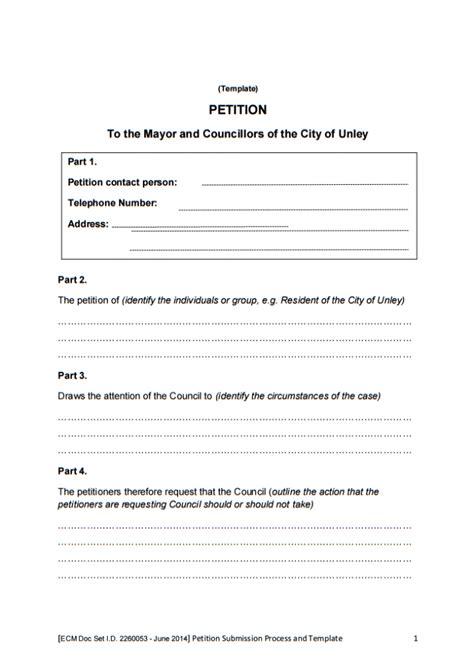 legislative report template 10 printable petition template exles templates assistant
