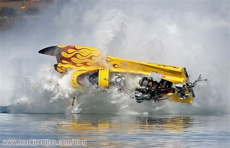 hydrofoil boat crash one driver learns that at 200mph water isn t as soft as it