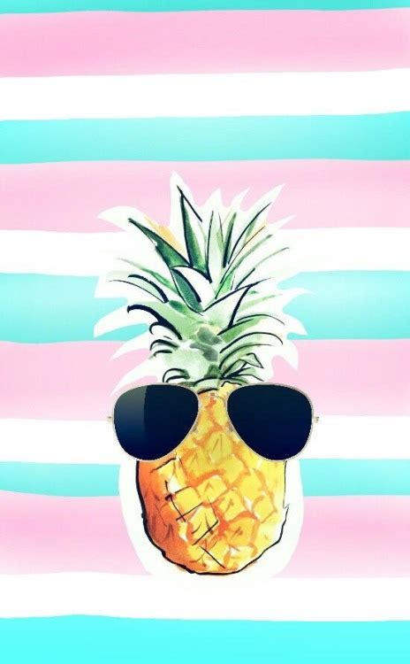 girly summer wallpaper pineapple patterns tumblr