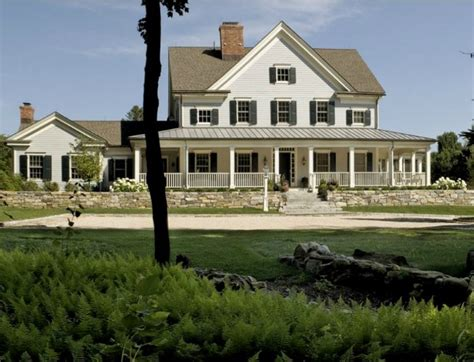 Southern House Plans With Wrap Around Porches Modern Farmhouse Style In The Berkshire Woods Hooked On