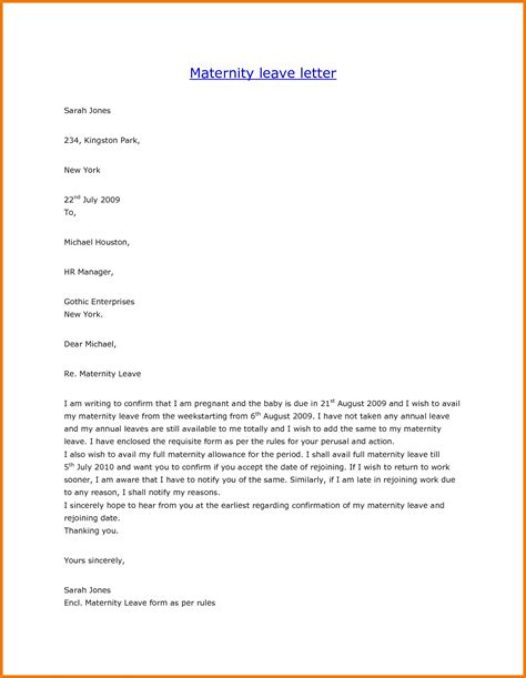 Proof Of Maternity Leave Letter template letter paternity leave fresh sle maternity