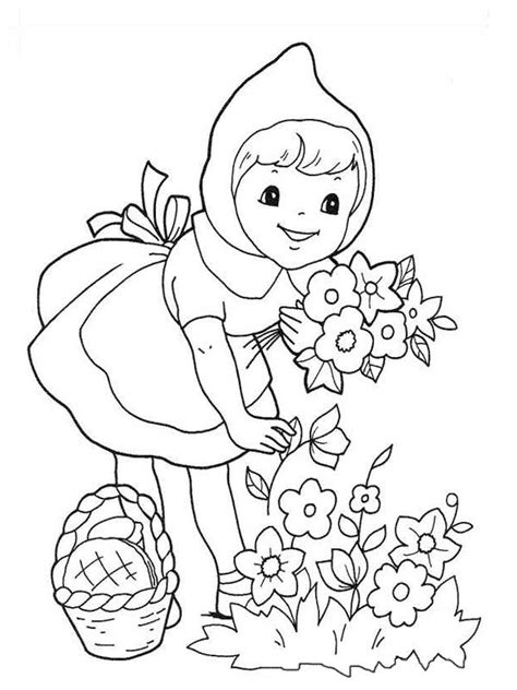 free red riding hood and wolf coloring pages