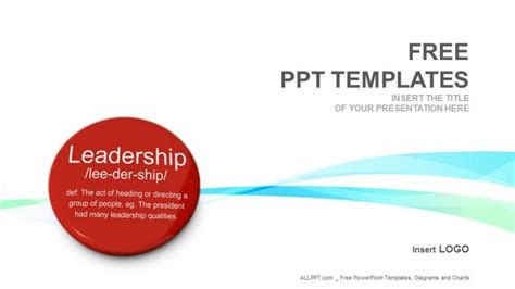 free leadership powerpoint templates leadership button business ppt templates free
