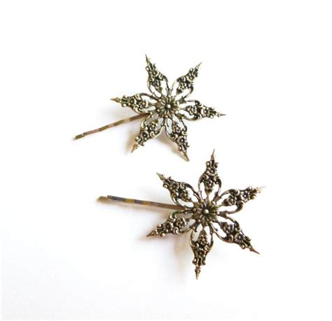 Wedding Hair Accessories Snowflake by Winter Wedding Accessories Silver Snowflake Bobby Pins