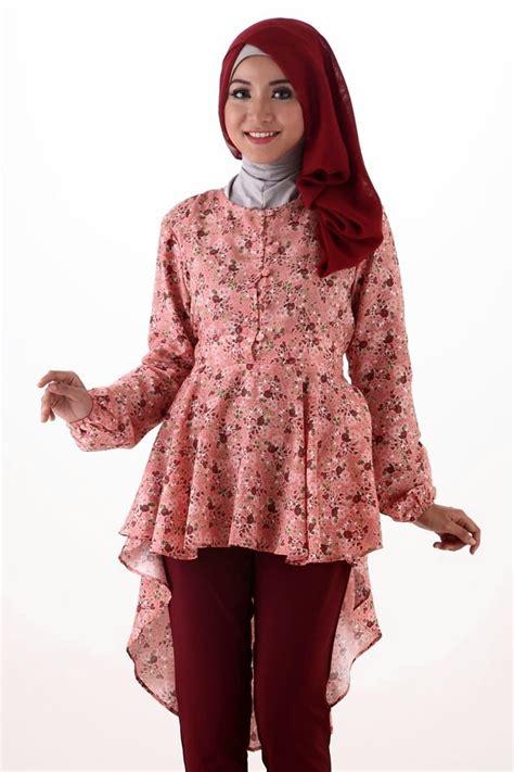 Baju Resmi Kantor Kuliah gambar model baju batik muslim terbaru 2015