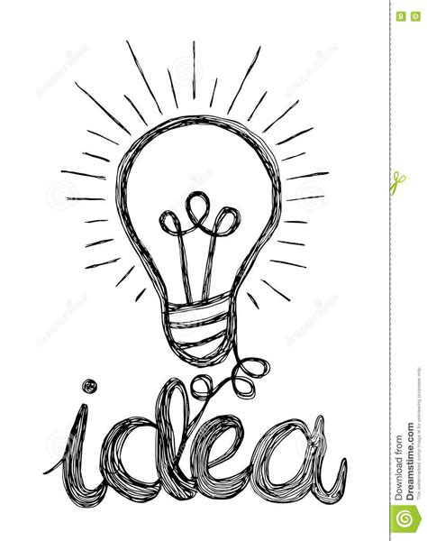 doodle god how to create light bulb vector light bulb icon with concept of idea doodle
