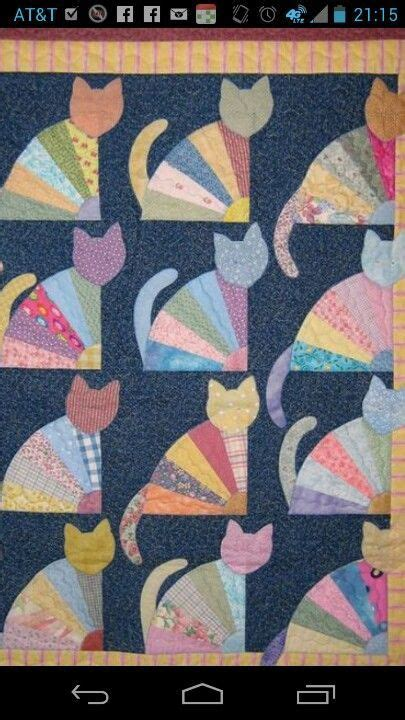quilt pattern cat awesome cat quilt pinteres
