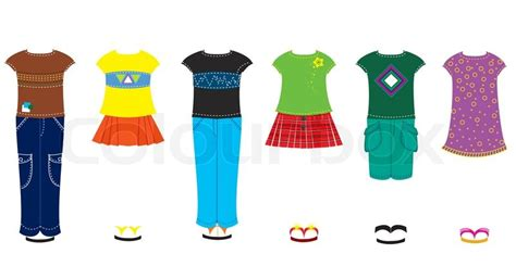 fashion doll vector vector fashion clothes for doll stock vector colourbox