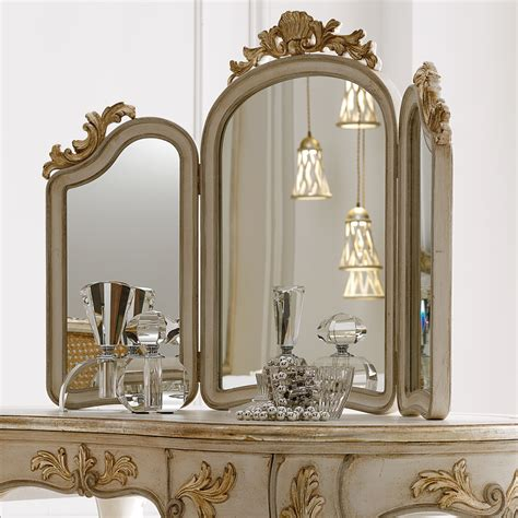 Dresser Table Mirror by Italian Freestanding 3 Leaf Dressing Table Mirror